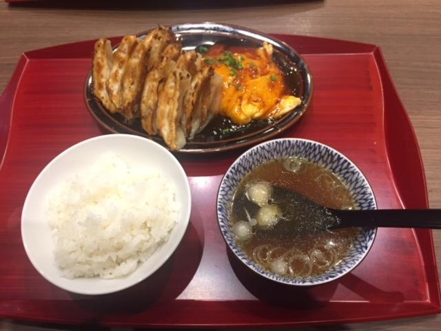 焼き餃子+甘酢玉子