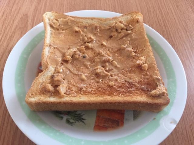 トーストピーナッツバター
