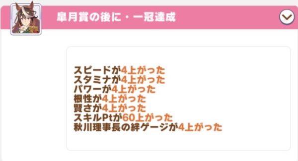 レースボーナス30%固有ボーナス2皐月賞スキルpt