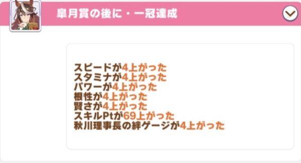 レースボーナス55%皐月賞スキルpt